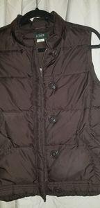 J.Crew puffy brown vest